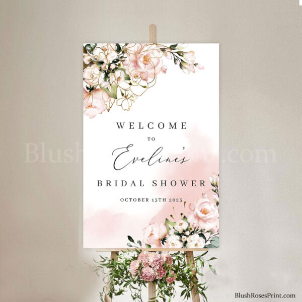 dusty-pink-roses-flowers-bridal-shower-welcome-signs-on-foam-board