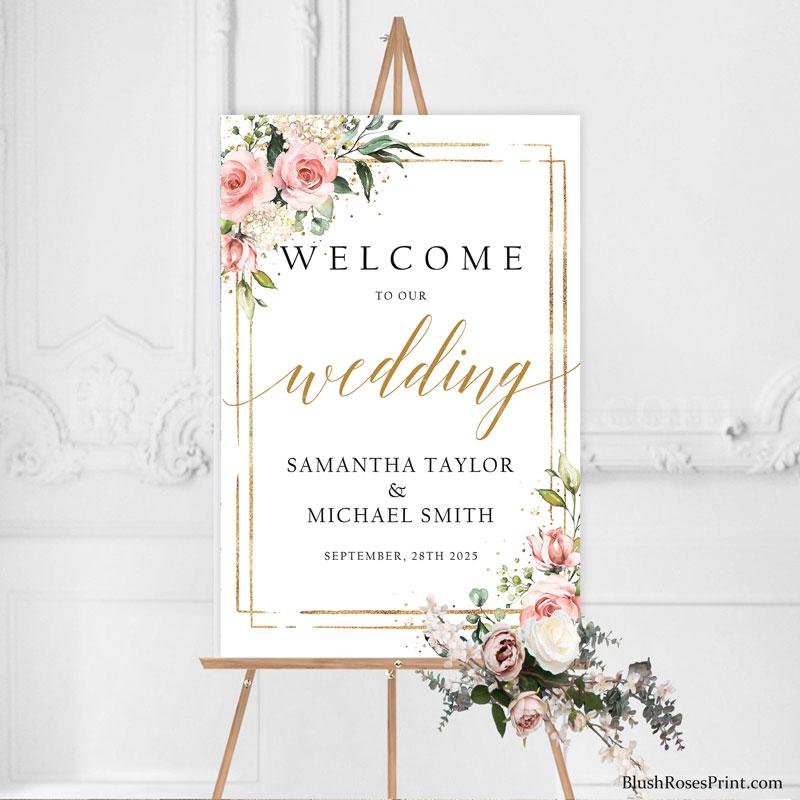 elegant-trendy-boho-wedding-welcome-sign-template