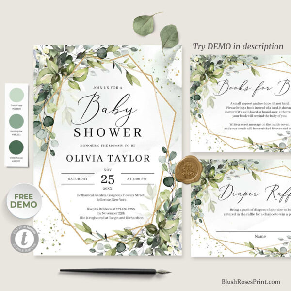 green-and-gold-baby-shower-invitation-template