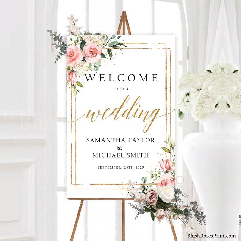 rose-gold-flowers-gold-frame-wedding-welcome-sign-24x36-digital