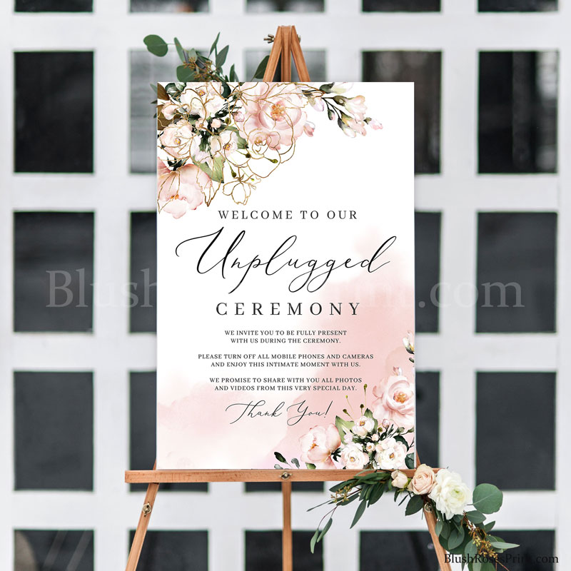 rustic-blush-pink-unplugged-wedding-ceremony-sign-poster-large-24x36
