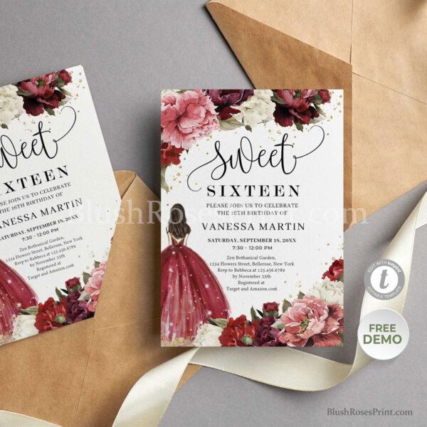 sweet sixteen invitation ideas